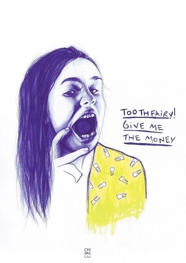 Toothfairy - 2016 Bic + pastel  - chiaralu | ello