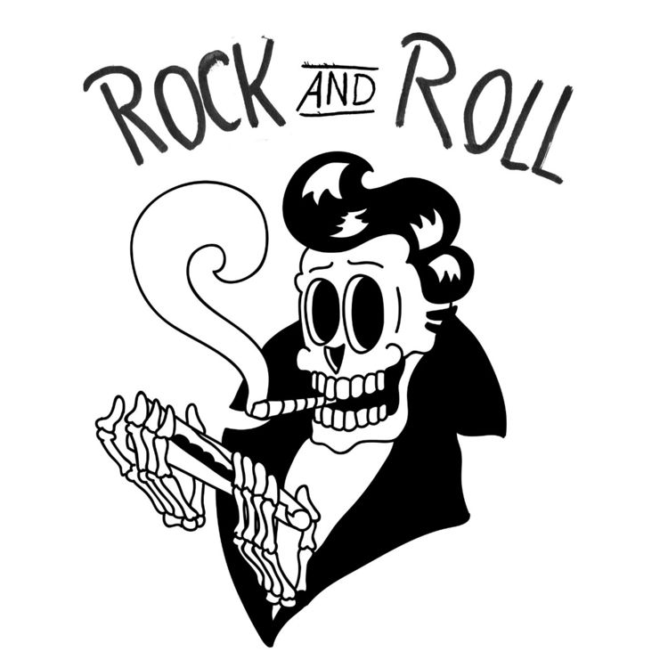 ROCK ROLL post ello - Illustration - deadandwet | ello