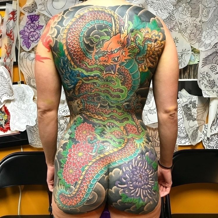 Dragon backpiece colony - japanese - drubias | ello