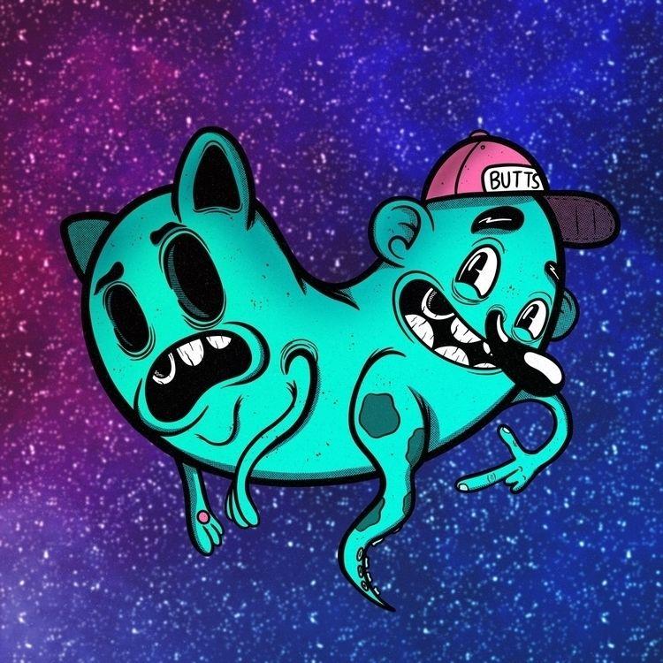 CatDog worse!  - art, artist, artwork - zackrussellart | ello