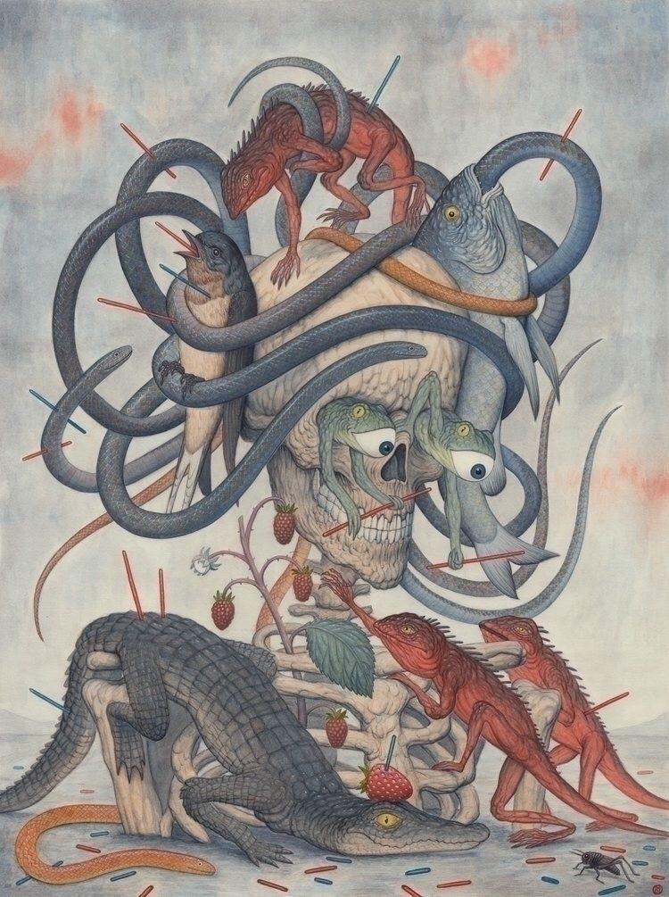 Medusa. Graphite watercolour pa - nicksheehy | ello