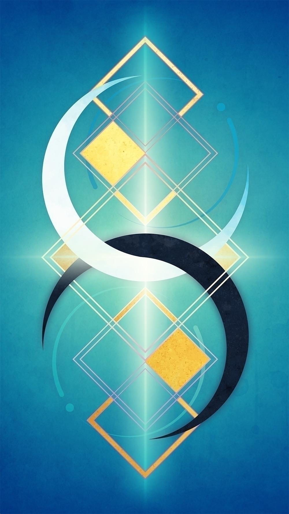 Geometry Love — II: Twin Moons  - jennyariane | ello