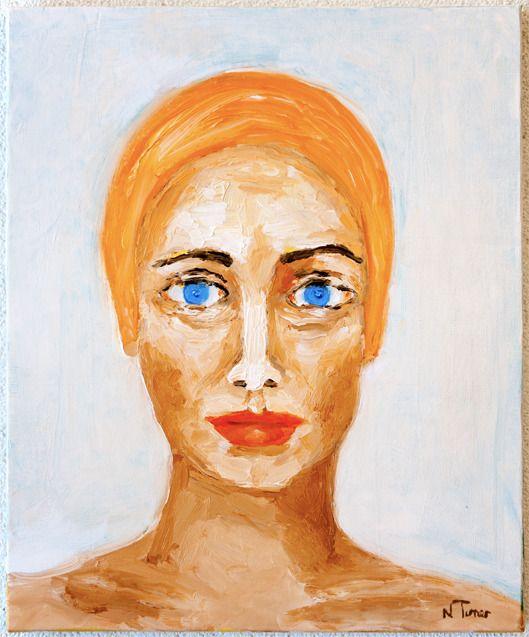Swimmer - oil stretched canvas - nealturner | ello