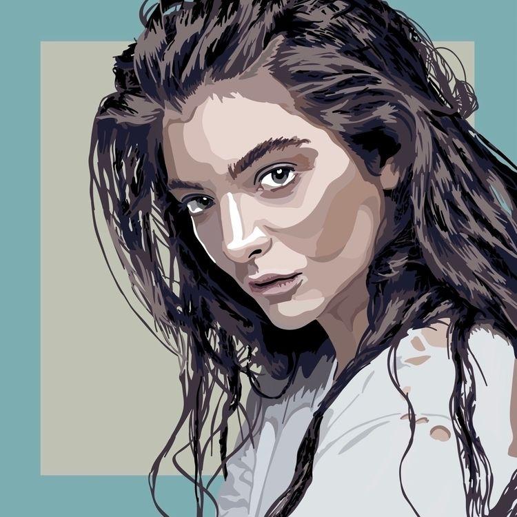 Lorde !! LINK BIO - art, artwork - parchpak | ello