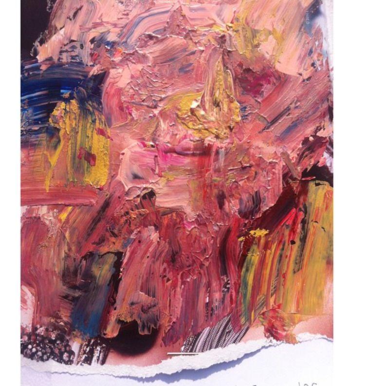 Acrylic magazine 11 14 - paint, collage - blflood | ello