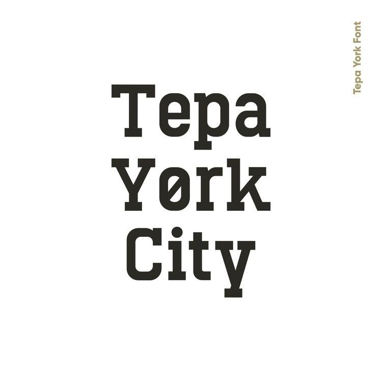 Tepa York City WIP Font - font, type - alan_barba_ | ello