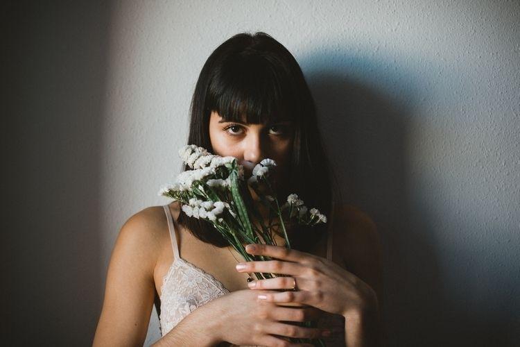 Bea - darkness, flowers - marccolilla   ello