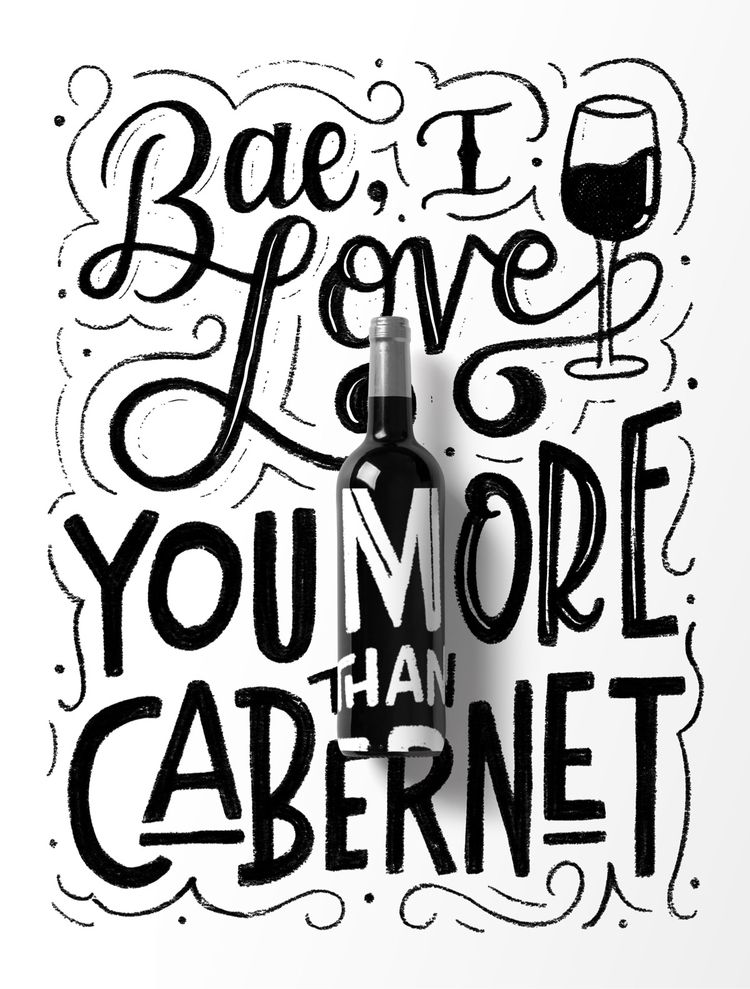 Bae, love Cabernet - lettering, handlettering - nhiii | ello