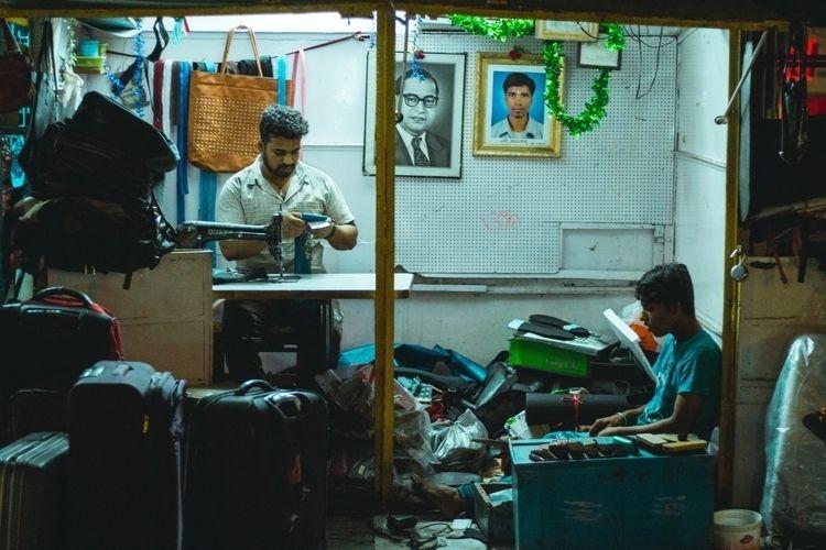 Cobbler Boys  - street, india, streetphotography - sanatnarayan | ello