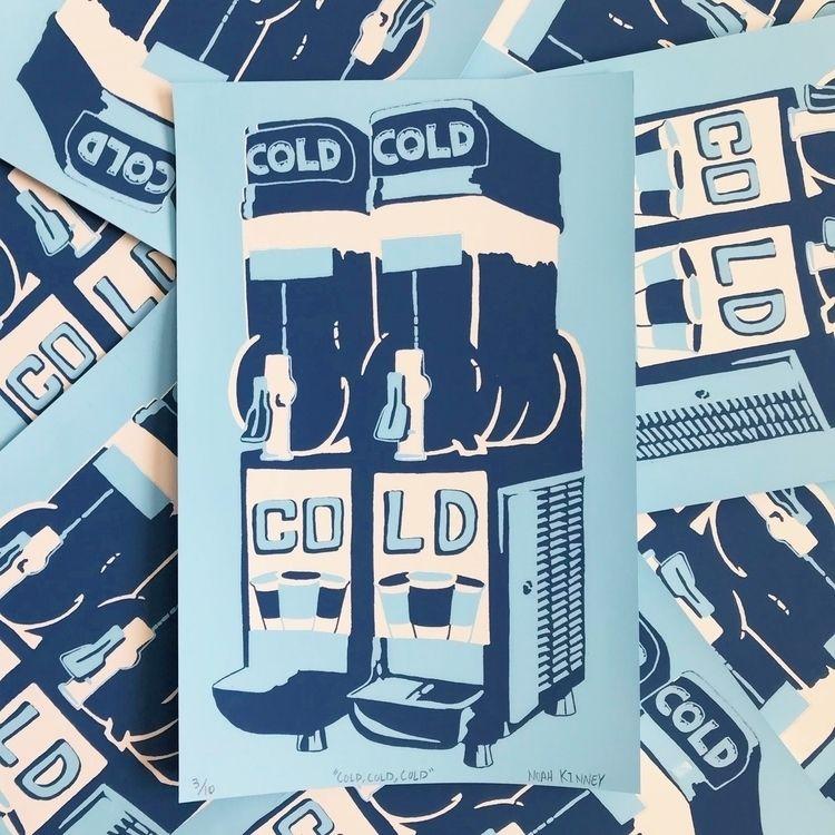 """""""Cold cold cold"""" 2 color screen - noahkinney   ello"""