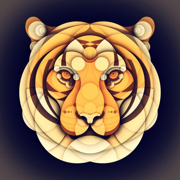 TIGER - Animal series - animalsjustwithcircles - brunobua | ello