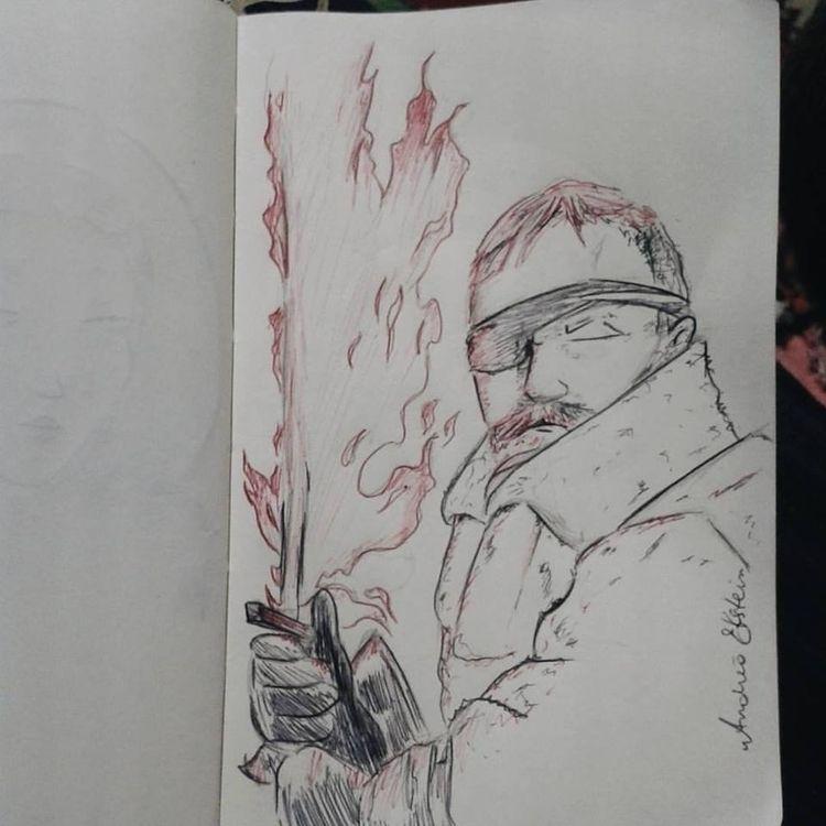 Beric Dondarrion ballpoint pen - andreaekstein | ello