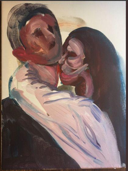 lovers 9 12 acrylic canvas - art - blflood | ello