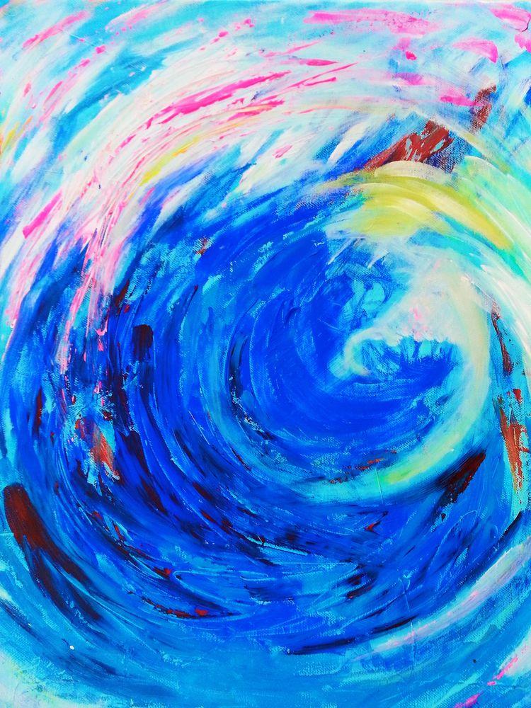 Acrylic painting canvas. inspir - annakefaloyianni | ello