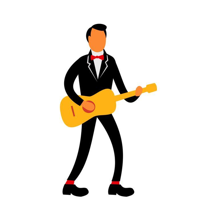 Guitarist Tuxedo Playing Guitar - patrimonio | ello
