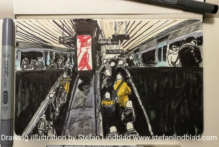 Drawing, illustration waiting s - stefanlindblad | ello