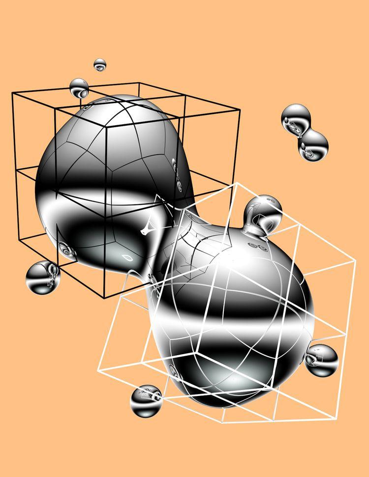posters series 3D renders explo - cameron-galley | ello