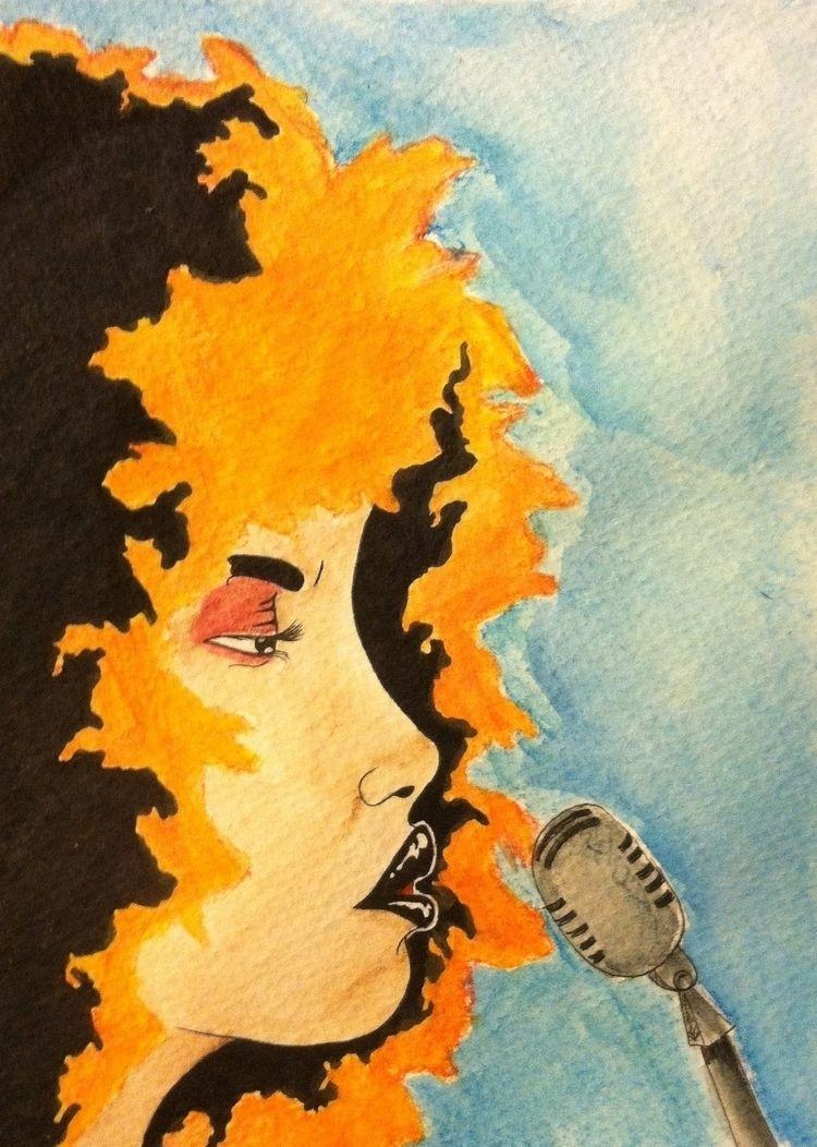 Soul Fire II III - watercolor, art - kingj_brand | ello