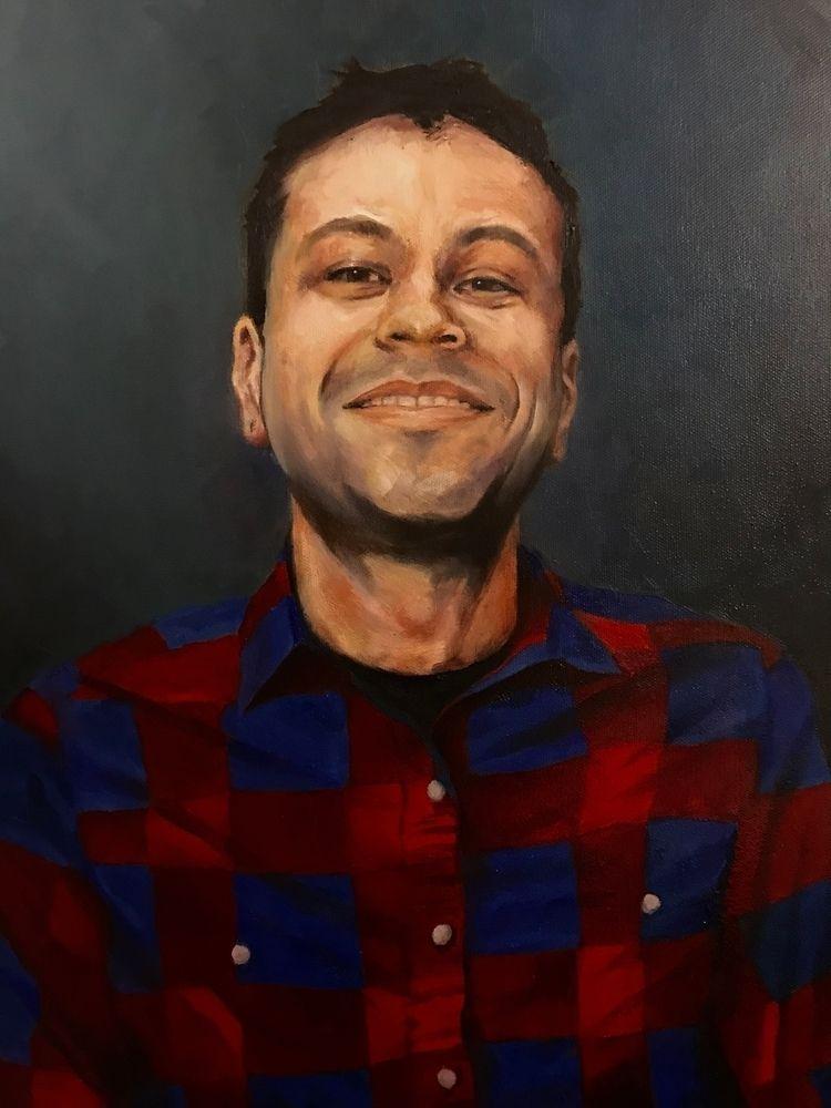 Portrait William Oil canvas 20  - motorwolf | ello