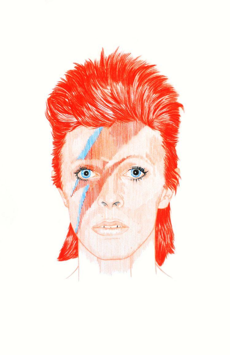 David Bowie (#1 + | Prismacolor - hannahemmett1 | ello