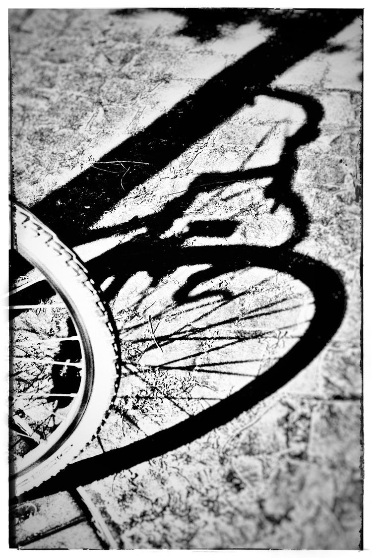 Bike shadow - photography, blackandwhitephotography - borisholtz | ello