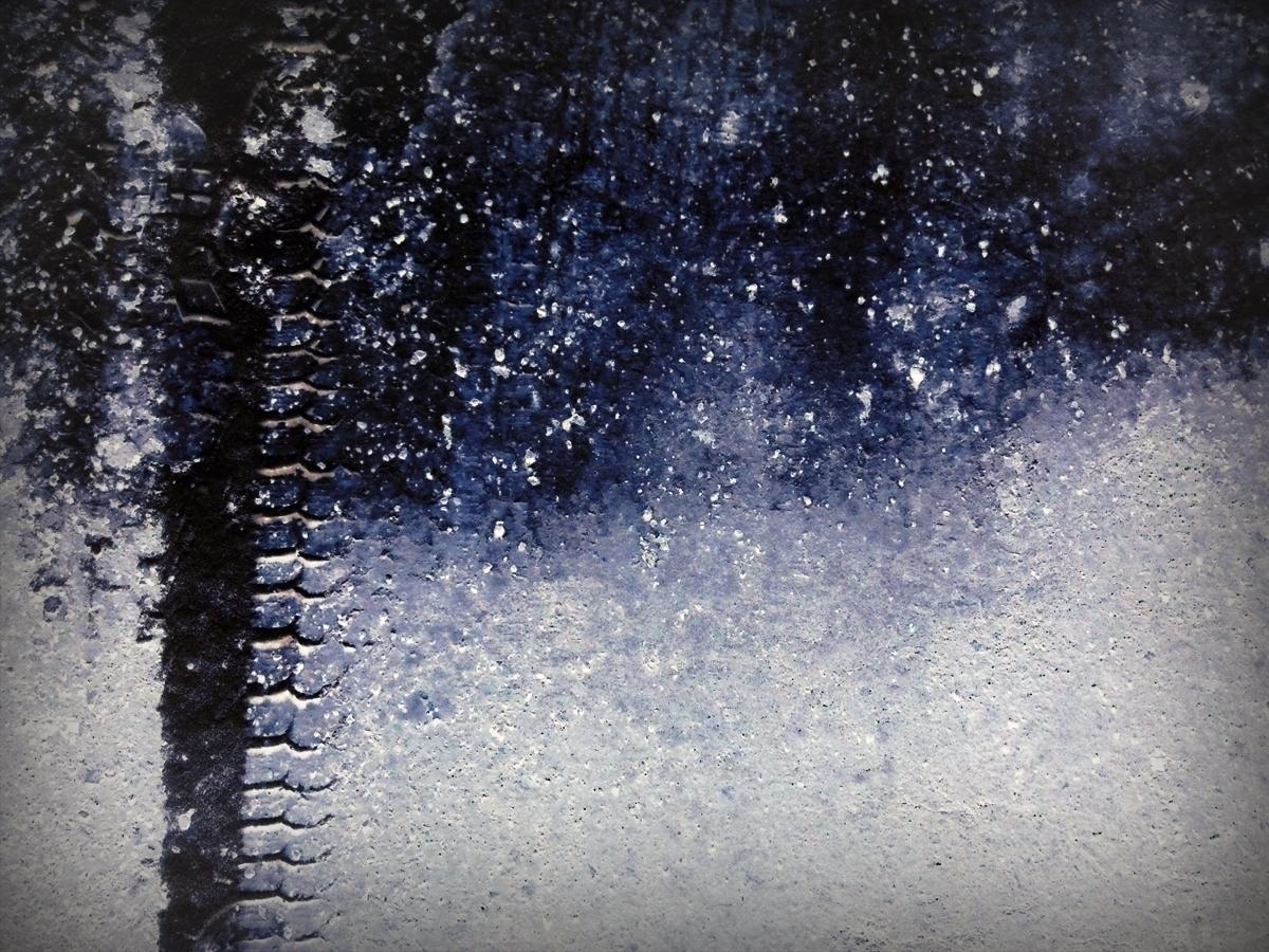 Snow Tread - photo, night, winter - dispel   ello