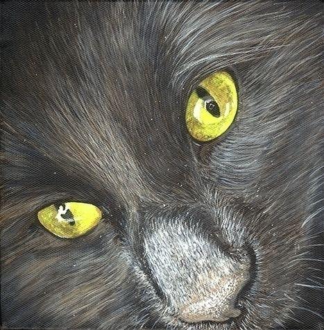Dyna. Acrylic canvas. 20 cm. 20 - tikaviker-bloss | ello