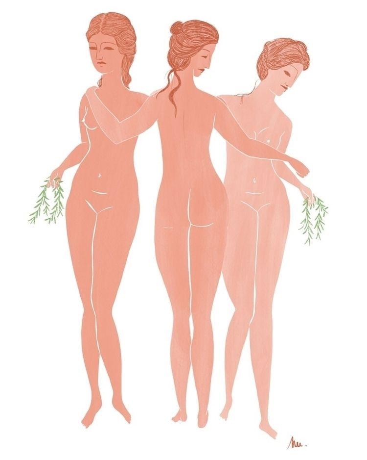 Les Trois Grâces  - art, artwork - claralecornu | ello