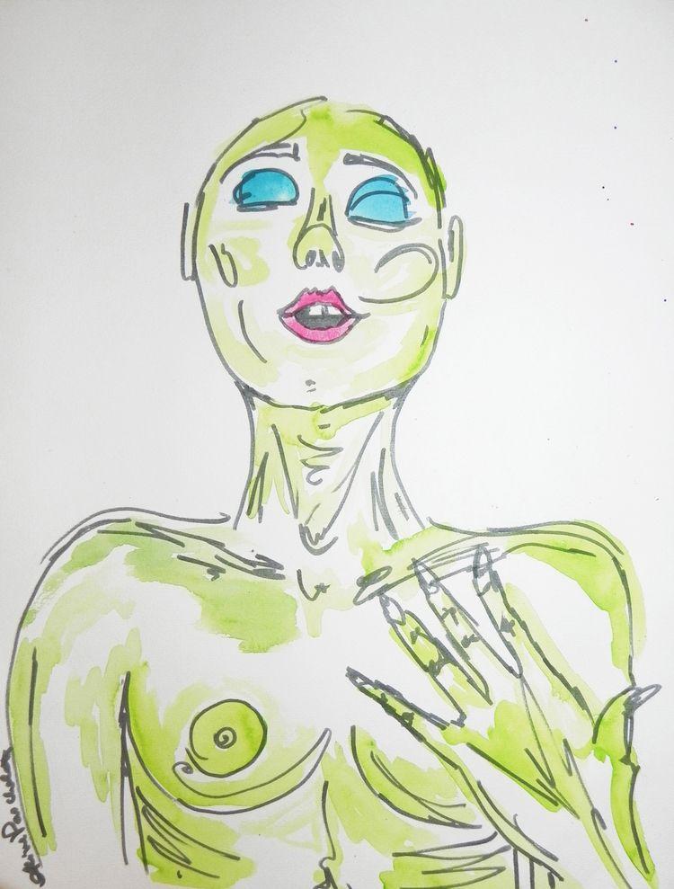 Breath, watercolor Indian ink p - alinepascholati | ello
