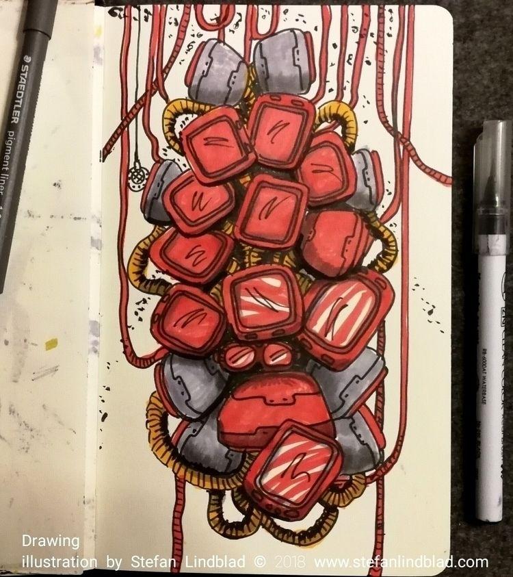 Freestyling, drawing cluster sp - stefanlindblad | ello