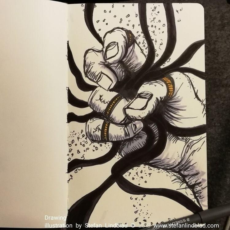 Illustration, drawing twisted h - stefanlindblad | ello