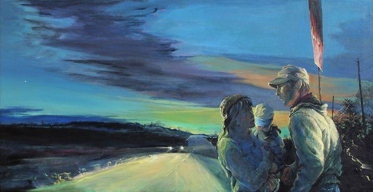Crossroads, acrylic canvas, 24  - chriscart | ello
