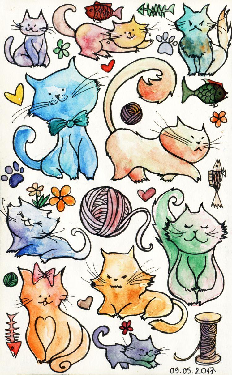 Doodles Moleskine - doodles, illustrations - thienngantranthi | ello