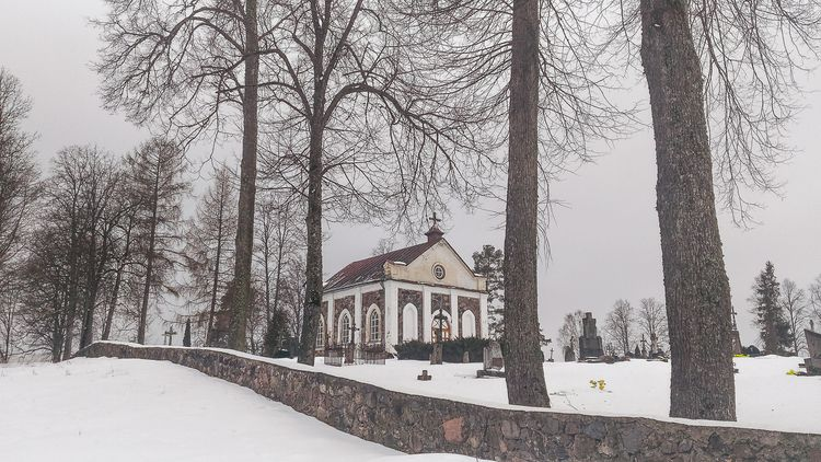 chapel, cemetery, lithuania, trees - beheroght | ello