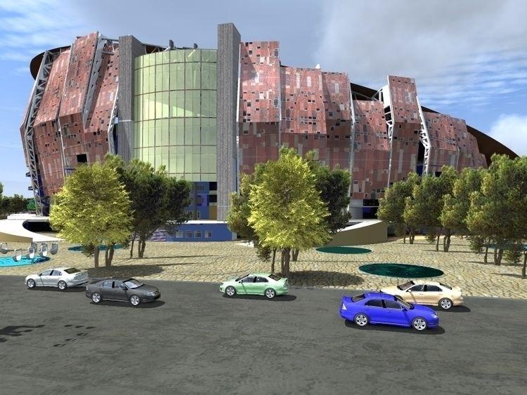 AGRIFEV Stadium elements façade - juanjgc92 | ello