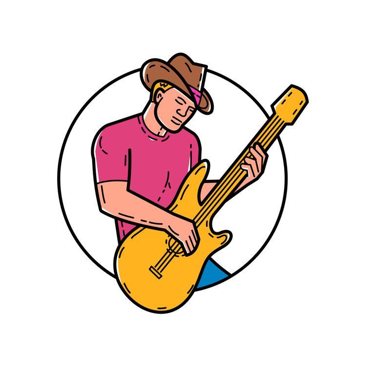 Cowboy Rocker Guitarist Mono Li - patrimonio   ello