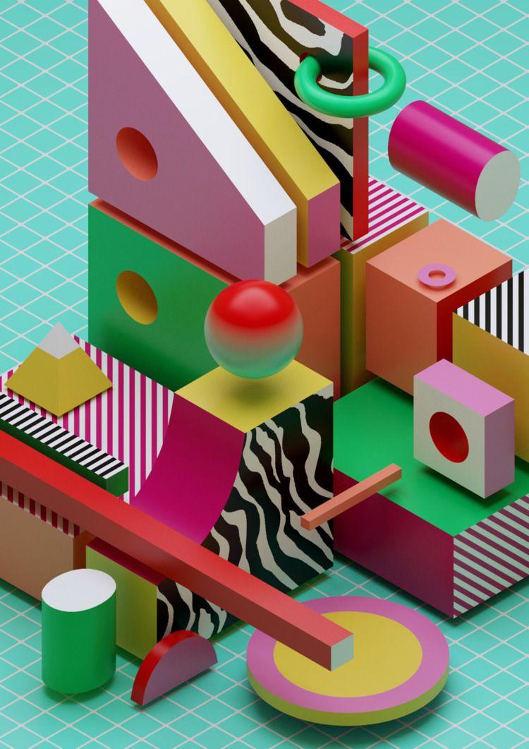 3D, abstract, design, graphicdesign - ikyste | ello