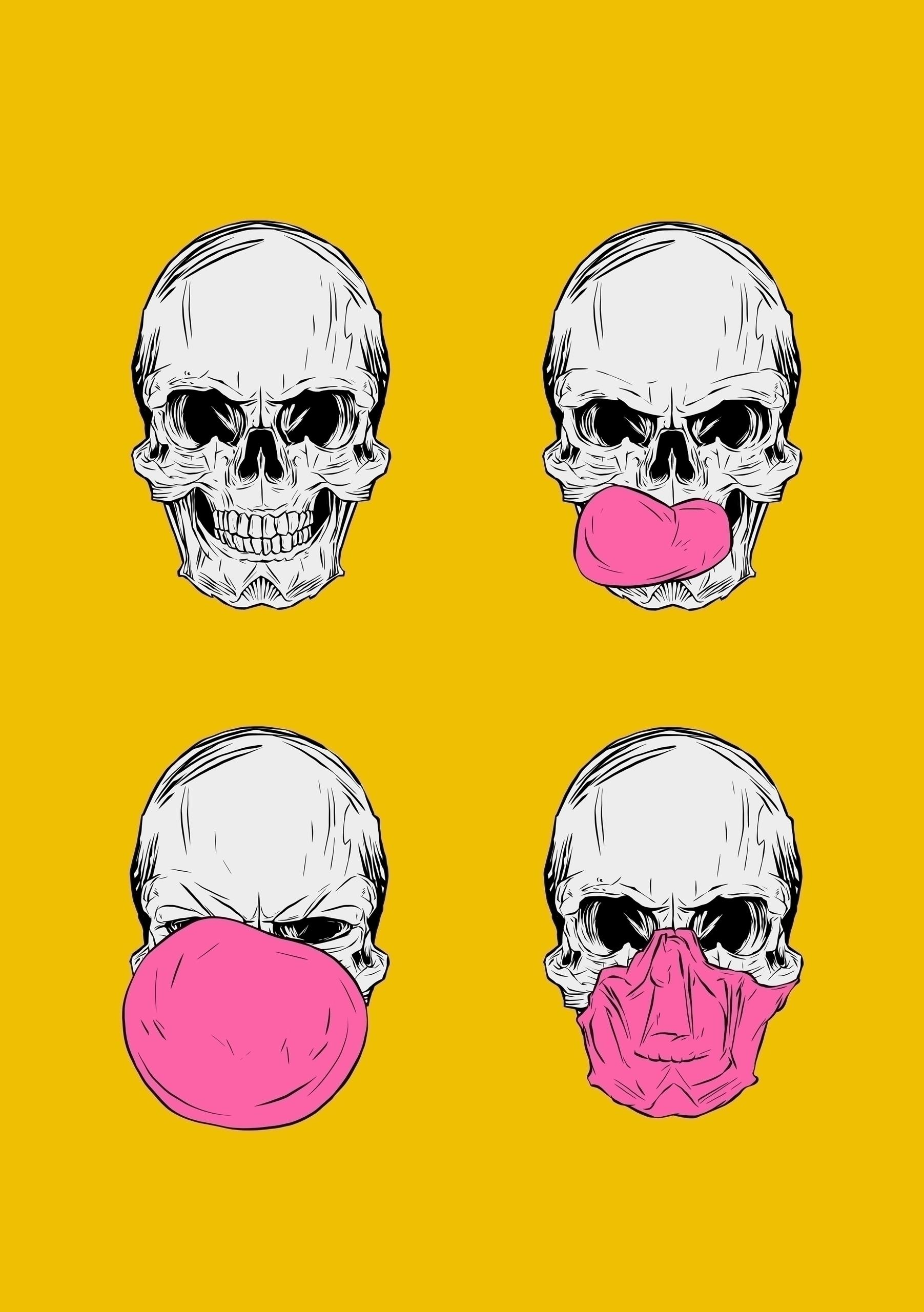 refreshed ... chew! art - skull - zen4 | ello