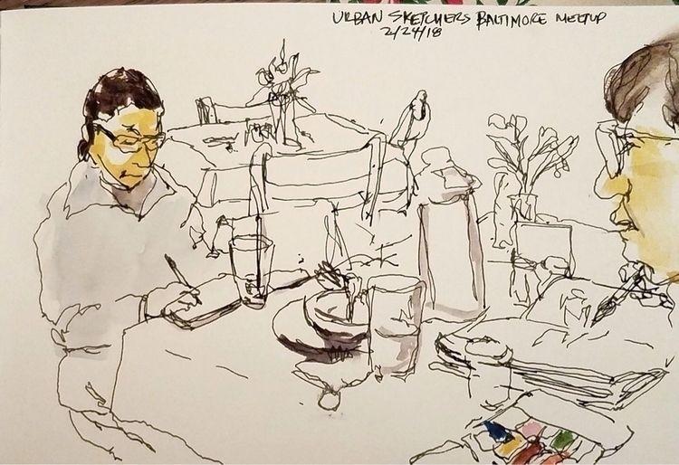 Sketching Sketchers- Baltimore  - toddpop1 | ello
