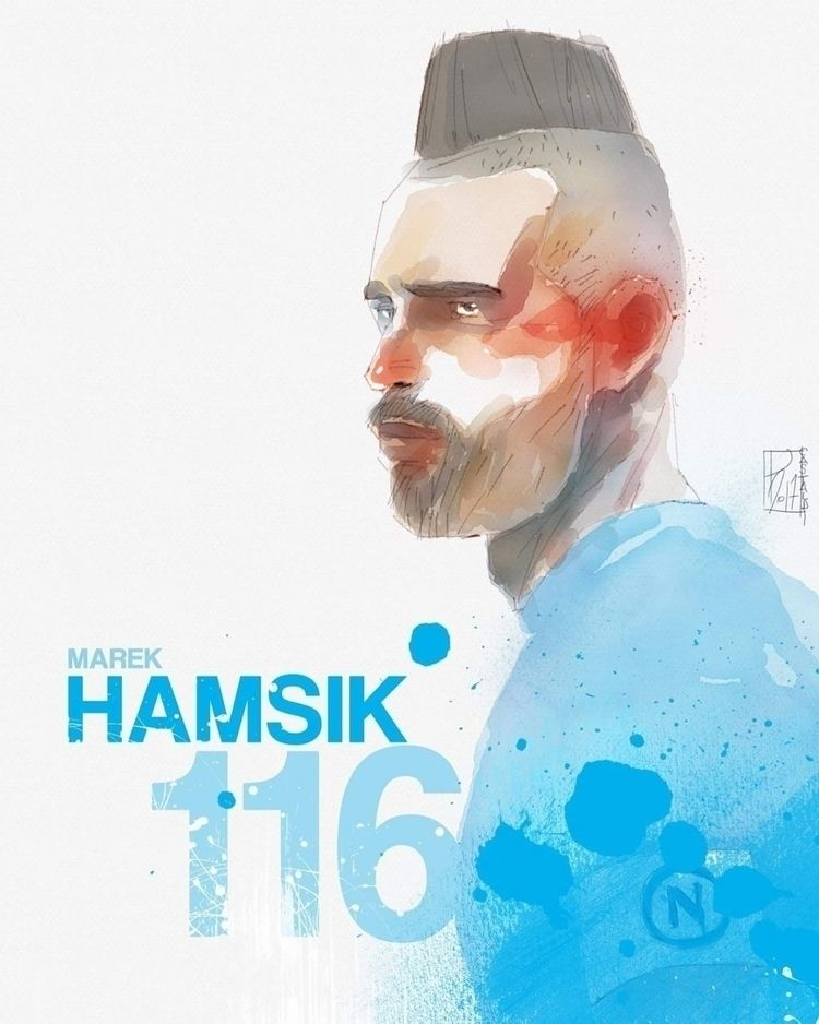 Hamsik / Digital Watercolor - paolocastaldi | ello