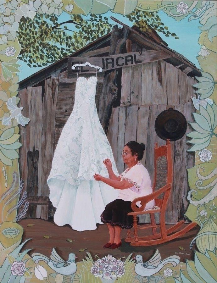 Wedding Dress Small acrylic por - jengretacart | ello