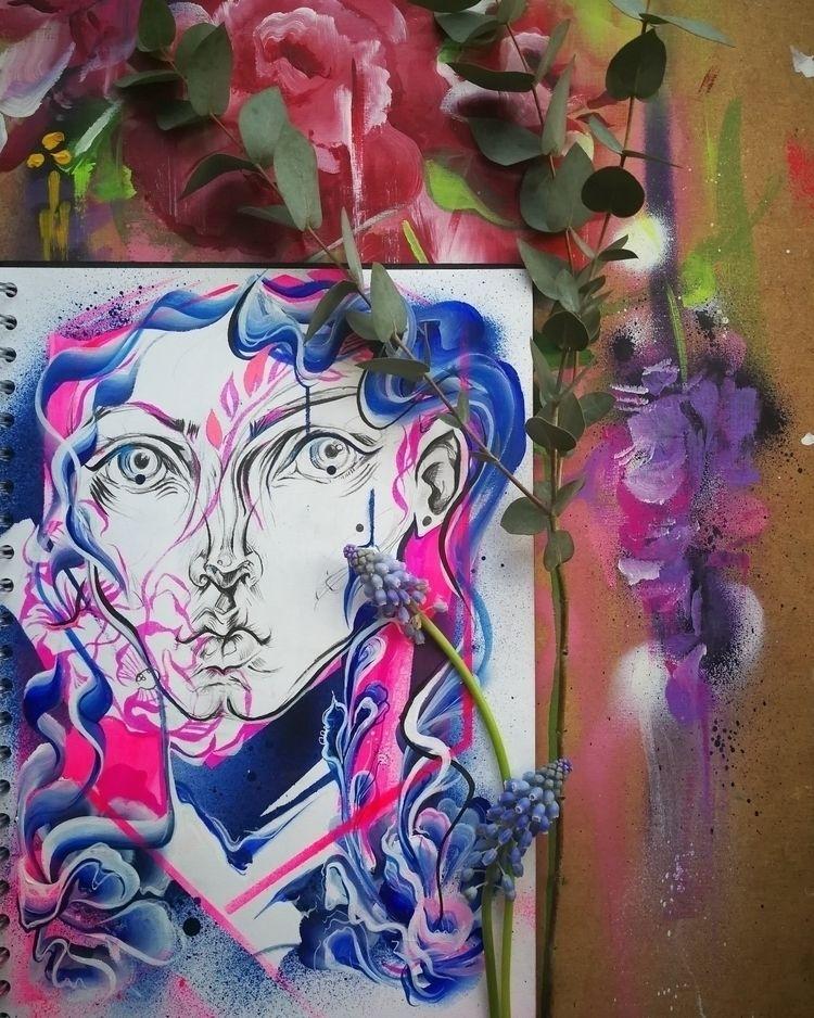 Jardin  - art, painting, paint, acrylic - femsorcell | ello