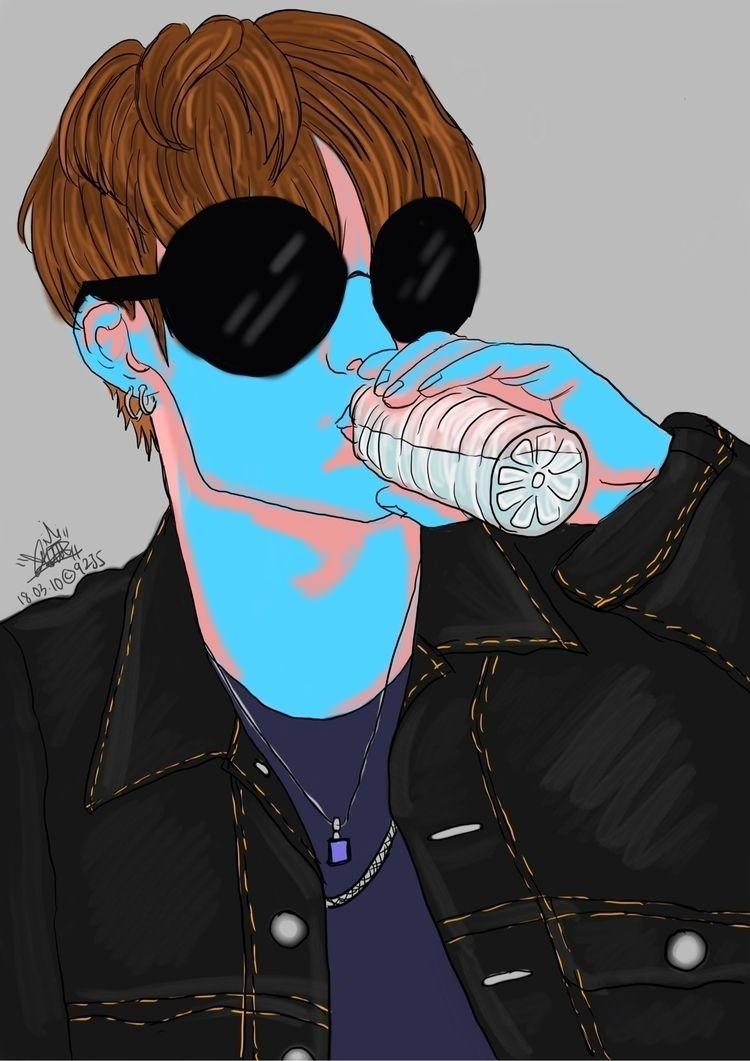 Monday Blues - illustration, digitalart - charmainedelwyn | ello
