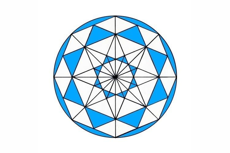Octagon Blue Digitalized paper  - istvanocztos | ello