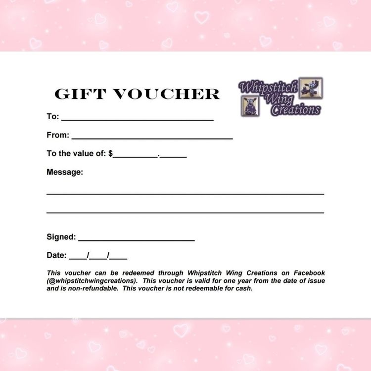 Gift vouchers great idea loved  - whipstitchwingcreations | ello