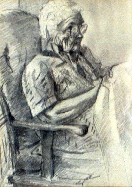 Oma (1991) Graphite drawing pap - corneakkers | ello