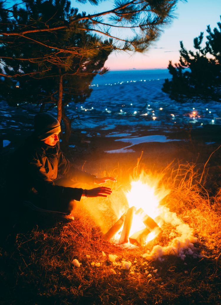 Warming trees:fire::camping - camp - oanceaalex | ello