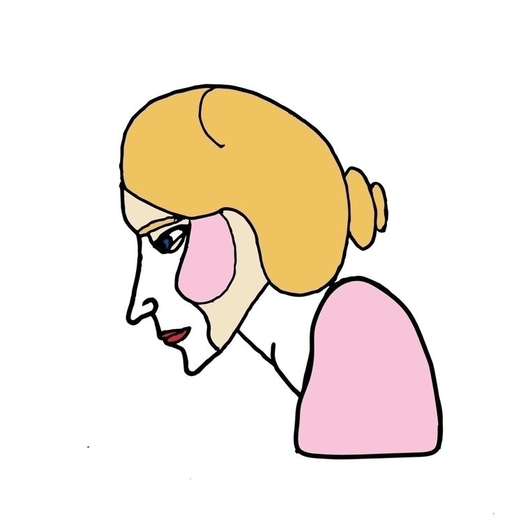 Portrait lady. Digitally colore - naomilittle   ello