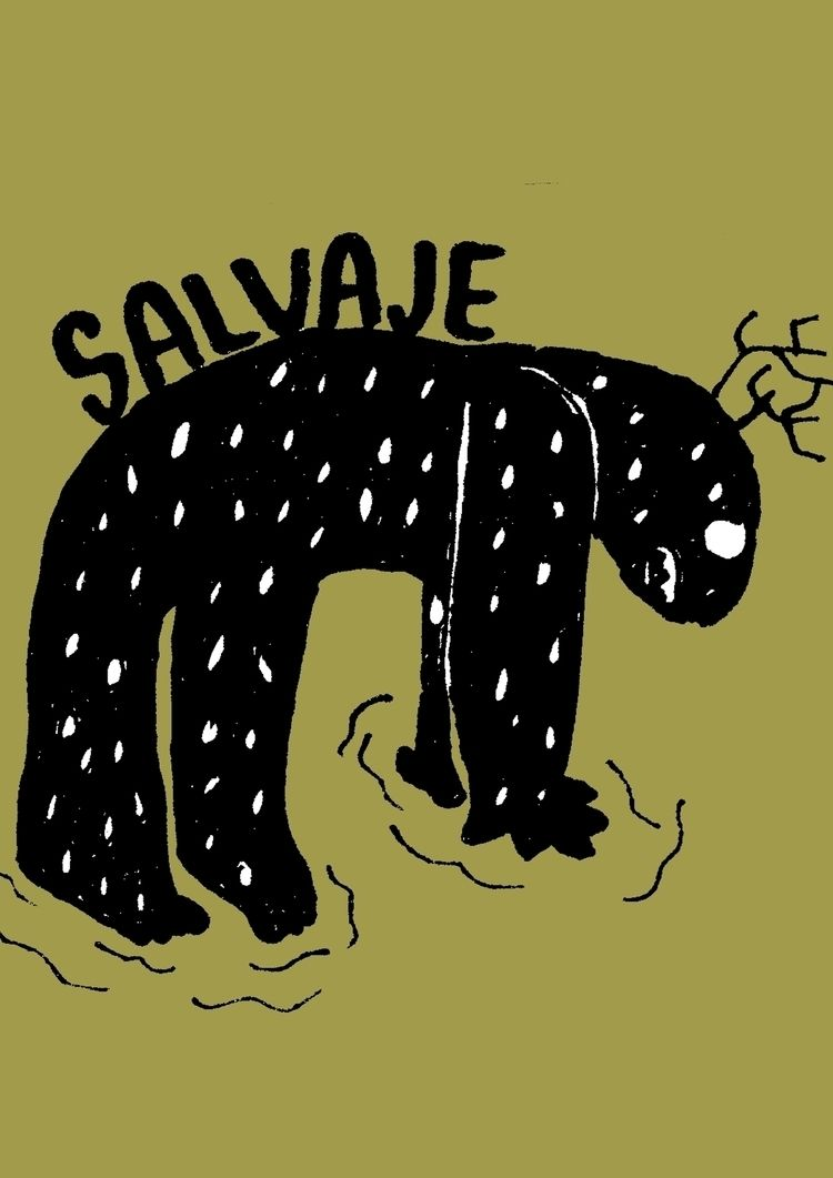 monster, savage, illustration - lazybastard | ello