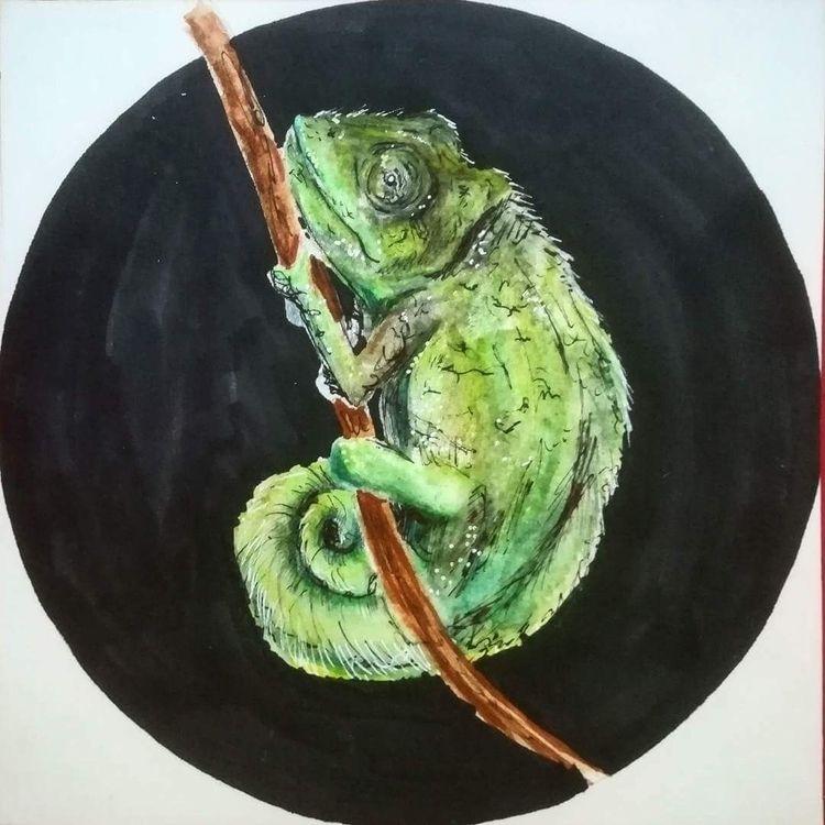 1 - watercolor, pen - carherbo   ello